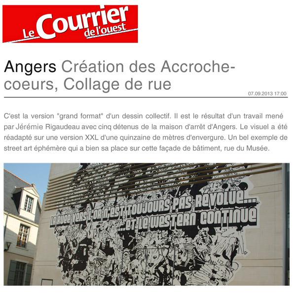 Angers Grand format Courrier de l'ouest DV1