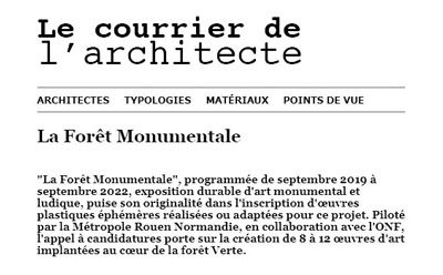 22/06/19_ Le courrier de l'architecte