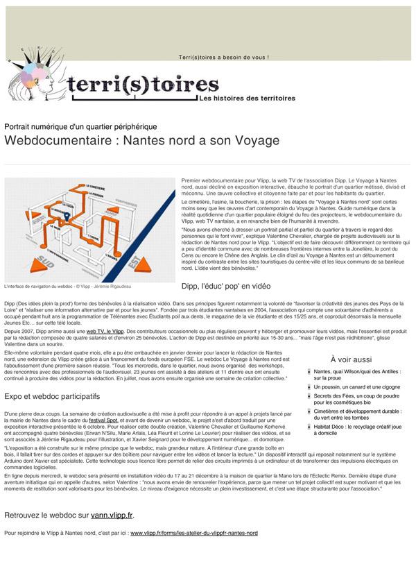 Webdocumentaire_ Nantes nord a son Voyage - Société - Terri(s)toires-DV